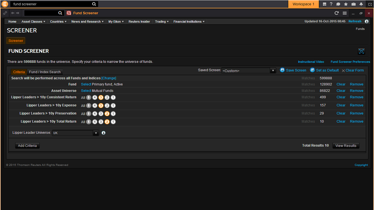 Eikon Wealth Management Lipper Leaders screenshot
